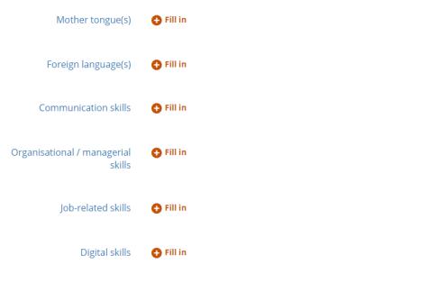 CV Europass 7 - Skills
