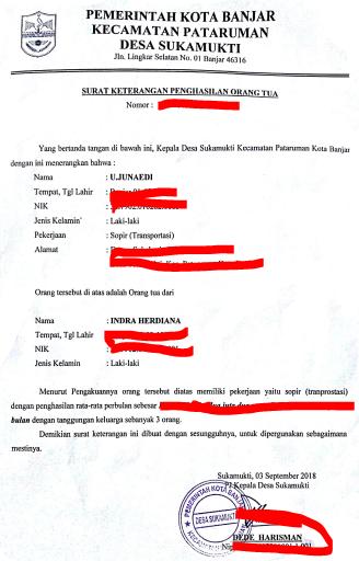 Surat Penghasilan